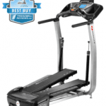 A side view angle of the Bowflex TC100 TreadClimber