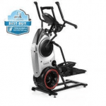 A side view angle of the Bowflex Max Trainer M6 with the best buy badge in the top left corner