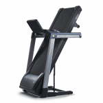 This is an image of the TR5500i Treadmill folded in an upright position
